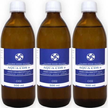 3x AQUA CDS 2  MMS 500ml