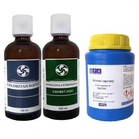 Chloritan Sodný+Chlornan vápenatý MMS1 MMS2